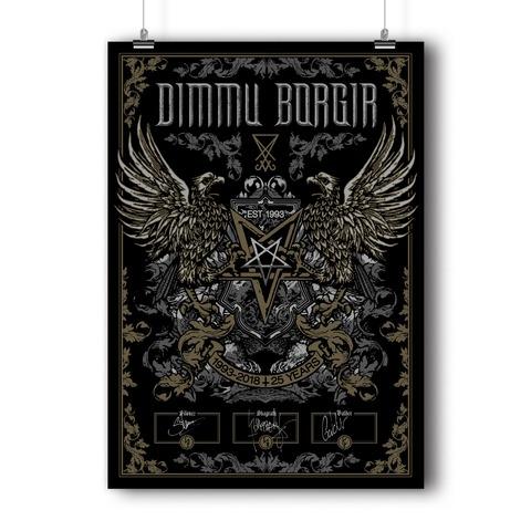 √25 Years von Dimmu Borgir - Screen Print Poster jetzt im Dimmu Borgir Shop