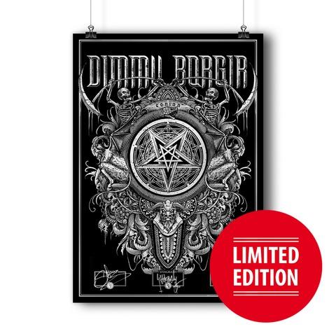 √Eonian Pentagram von Dimmu Borgir - Screen Print Poster jetzt im Dimmu Borgir Shop